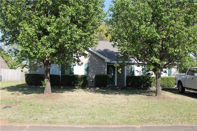 Prattville AL Single Family Home For Sale: $132,000