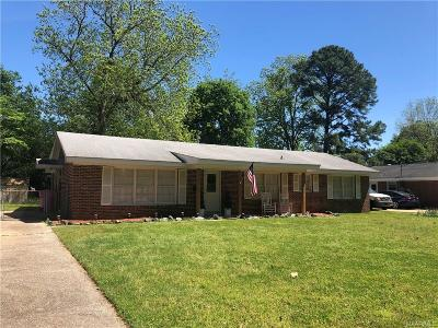 Prattville AL Single Family Home For Sale: $152,000
