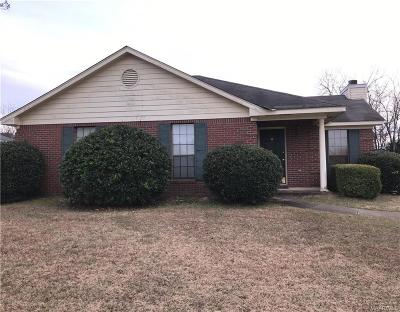 Montgomery AL Single Family Home For Sale: $104,900