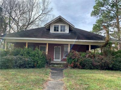 Wetumpka Single Family Home For Sale: 809 W Tallassee Street