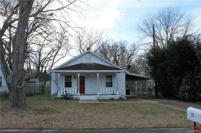 Wetumpka Single Family Home For Sale: 10 Alabama Street