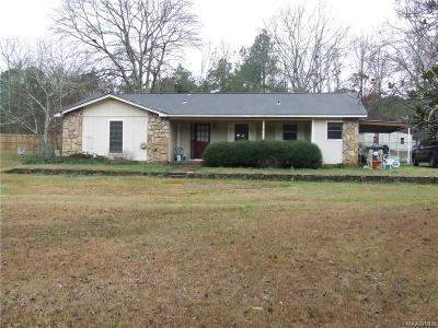 Wetumpka Single Family Home For Sale: 140 Greenleaf Drive