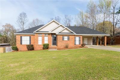 Wetumpka Single Family Home For Sale: 3536 Dozier Road
