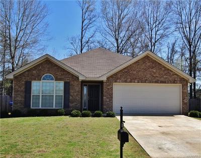 Wetumpka Single Family Home For Sale: 154 King Cotton Lane