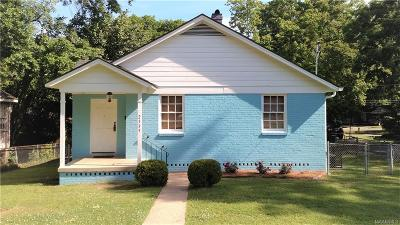 Montgomery AL Single Family Home For Sale: $51,500