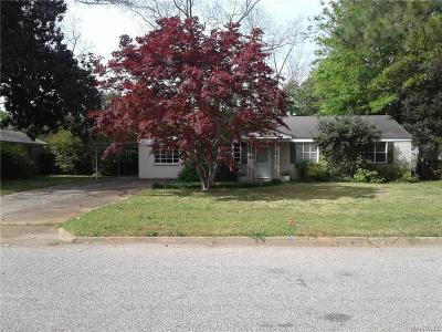 Montgomery Single Family Home For Sale: 2927 Brevard Avenue