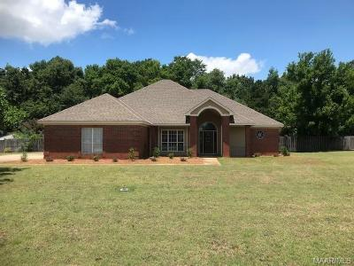 Wetumpka Single Family Home For Sale: 295 Cedar Ridge Drive