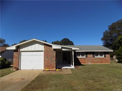 Prattville AL Single Family Home For Sale: $102,900