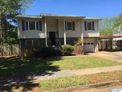 Huntsville Single Family Home For Auction: 3520 Conger Road