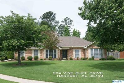 Single Family Home For Sale: 204 Vine Cliff Drive