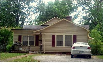 Florence AL Single Family Home For Sale: $55,000