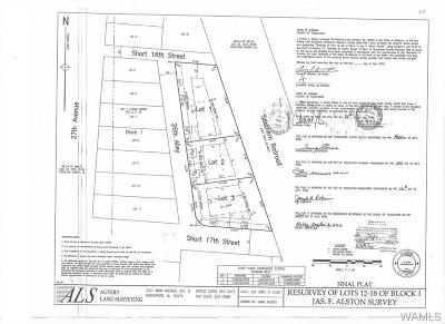 Tuscaloosa Residential Lots & Land For Sale: 1625 26th Alley