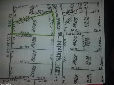 Garland County Residential Lots & Land New Listing: Waikiki
