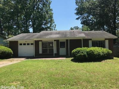 Little Rock Single Family Home Price Change: 4411 Pine Cone Drive