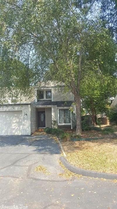 Maumelle Condo/Townhouse New Listing: 14 Fairway Woods Circle