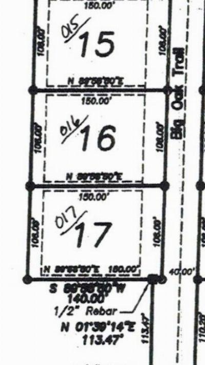 Residential Lots & Land For Sale: Lot 16 Big Oak Trail