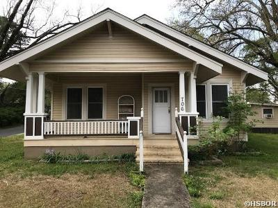 Hot Springs Single Family Home For Sale: 706 Mineral