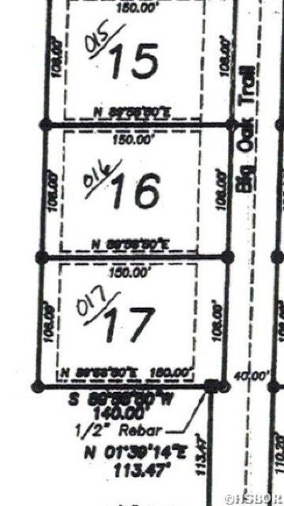 Residential Lots & Land For Sale: Lot 16 Big Oak Trl