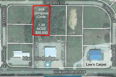 Residential Lots & Land For Sale: 919 Congress Circle