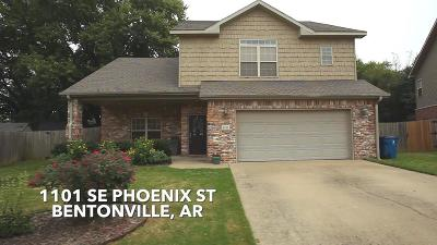 Bentonville Single Family Home For Sale: 1101 SE Phoenix St