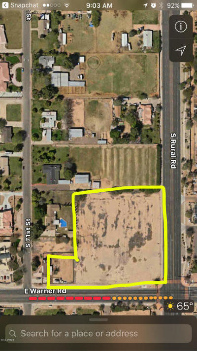 Tempe Residential Lots & Land For Sale: 8760 S Rural/Corner Road