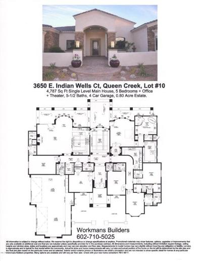 Queen Creek Single Family Home For Sale: 3650 E Indian Wells Court