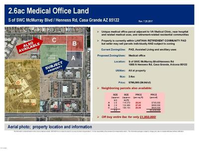 Casa Grande Residential Lots & Land For Sale: 1005 N Henness Road