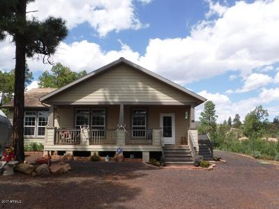 Show Low Single Family Home For Sale: 846 Navajo Trail