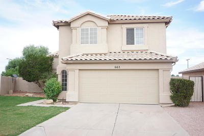 Gilbert Single Family Home For Sale: 663 N Sunway Drive