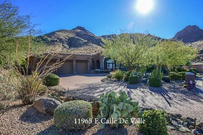 Scottsdale Single Family Home For Sale: 11965 E Calle De Valle Drive