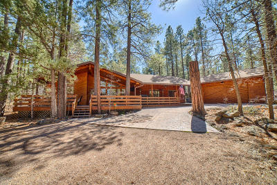 Pinetop Single Family Home For Sale: 3681 Country Club Circle