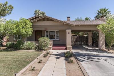 Phoenix Single Family Home For Sale: 100 W Palm Lane #1
