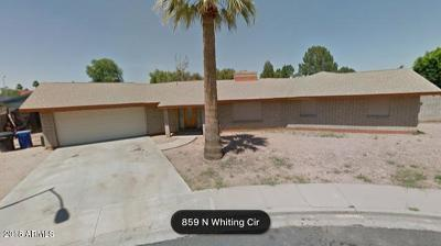 Mesa Single Family Home UCB (Under Contract-Backups): 857 N Whiting Circle