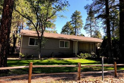 Show Low Single Family Home For Sale: 3460 W Willis