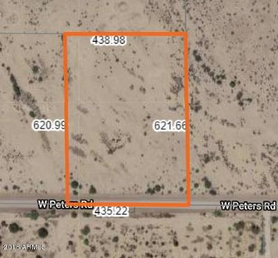 Casa Grande Residential Lots & Land For Sale: 23606 W Peters Road