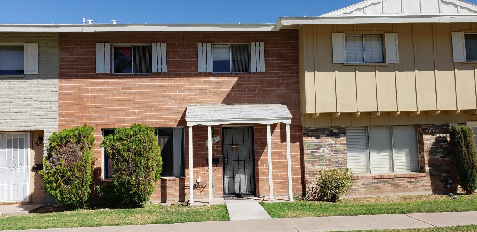 4 bed / 1 full, 1 partial baths Condo/Townhouse in Tempe for $225,000
