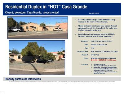 Casa Grande Multi Family Home For Sale: 520 6th Street