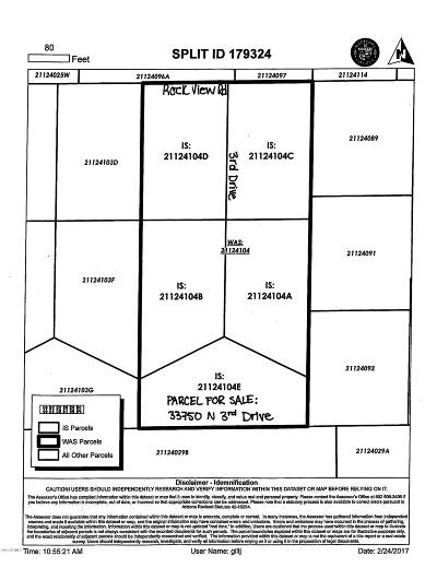 Phoenix Residential Lots & Land For Sale: 33750 N 3rd Drive