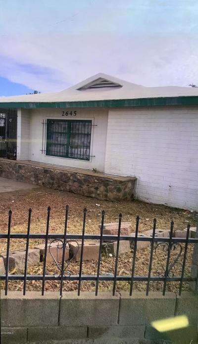 Phoenix Single Family Home UCB (Under Contract-Backups): 2645 W Melvin Street