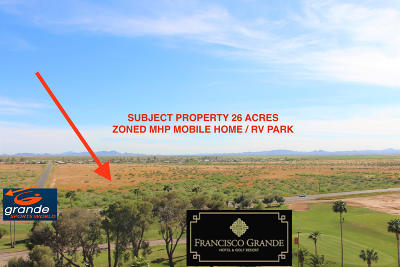 Casa Grande Residential Lots & Land For Sale: W Gila Bend Highway