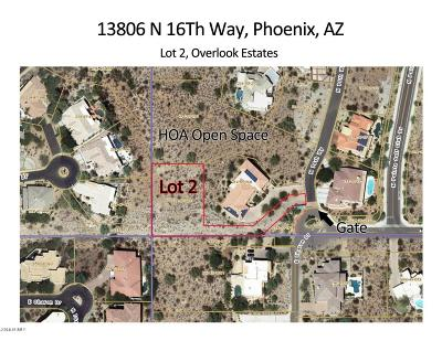 Phoenix Residential Lots & Land For Sale: 13806 N 16th Way