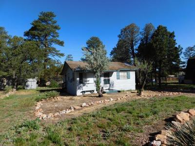 Overgaard AZ Single Family Home For Sale: $104,900