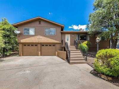 Prescott Single Family Home For Sale: 5086 Cactus Place