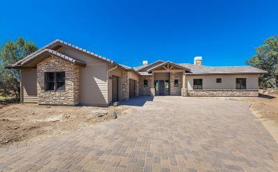 Prescott Single Family Home For Sale: 15020 N Doubtful Canyon Drive