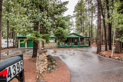 Pinetop Single Family Home For Sale: 4396 Deep Forest Drive