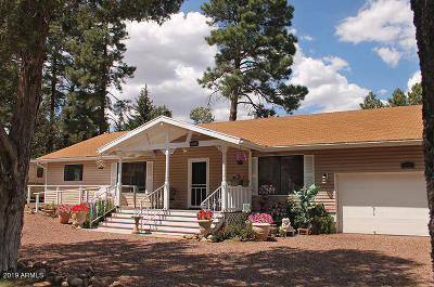 Show Low Single Family Home For Sale: 3400 W Old Linden Road