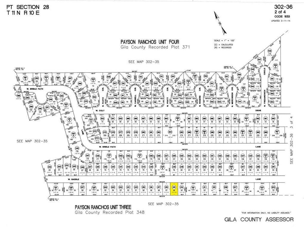 6098 sq ft in Payson for $52,000 Gila County Essor Maps on