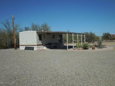 Quartzsite Single Family Home For Sale: 20 S Emelia Ave. Ave