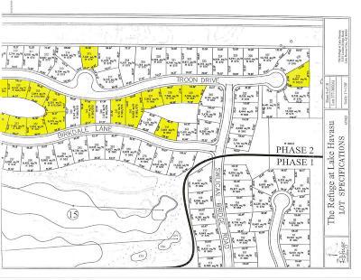 Lake Havasu City Residential Lots & Land For Sale: Various The Refuge 20 Lots Bulk Sale