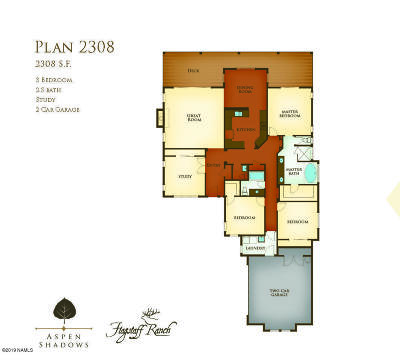 Flagstaff Single Family Home For Sale: Plan 2834 Aspen Shadows